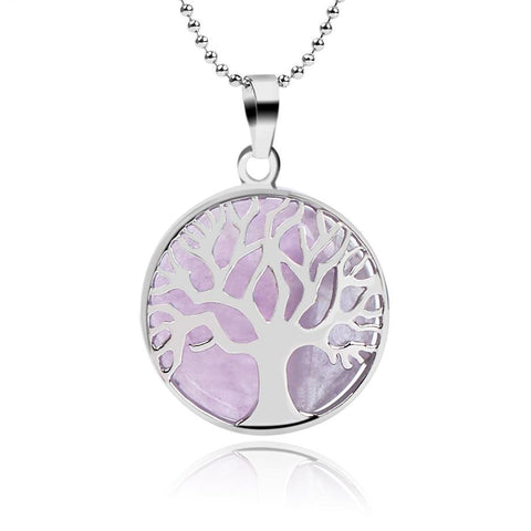 Gem Stone Tree of Life Necklaces