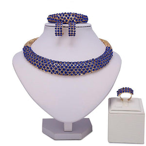 African Beaded Choker Jewelry Set