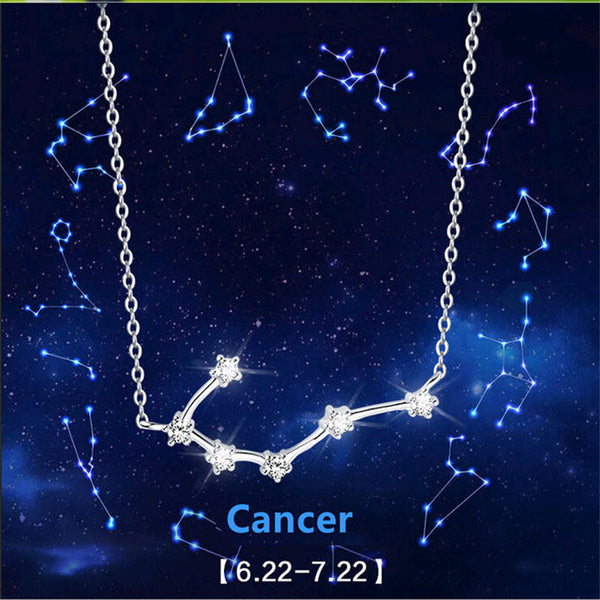 Constellation Crystal Silver Necklaces