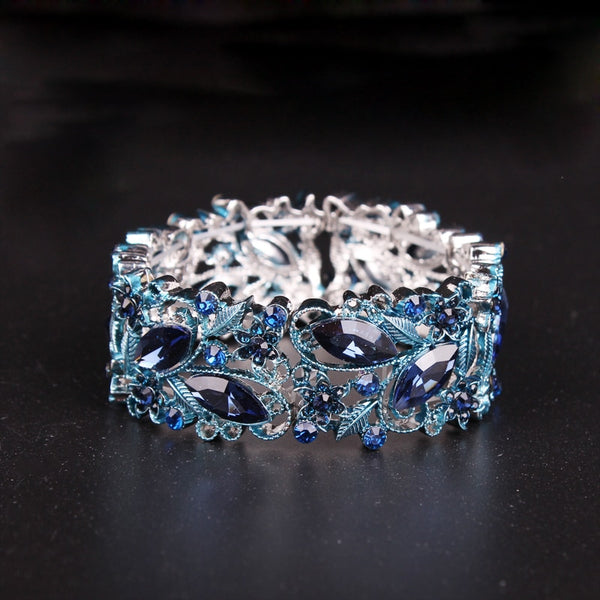 Indian Ocean Crystal Cuff Bracelet