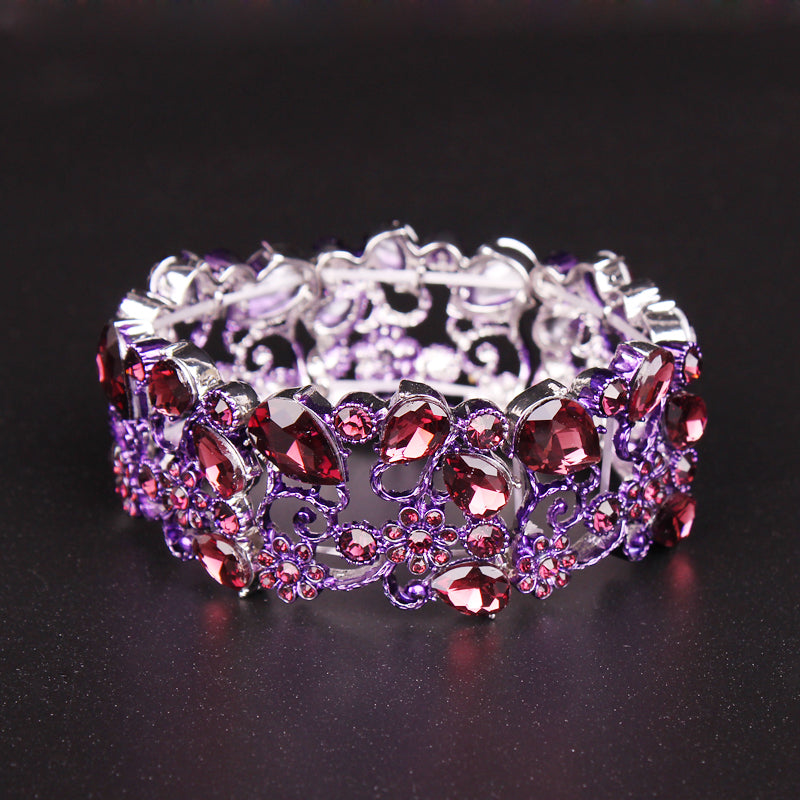 Indian Gemstone Cuff Bracelet