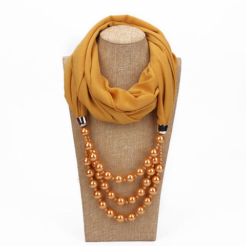 Luxury Pearl Drop Scarf