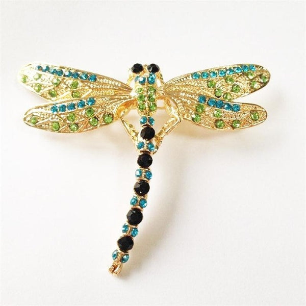 Vintage Dragonfly Crystal Brooches