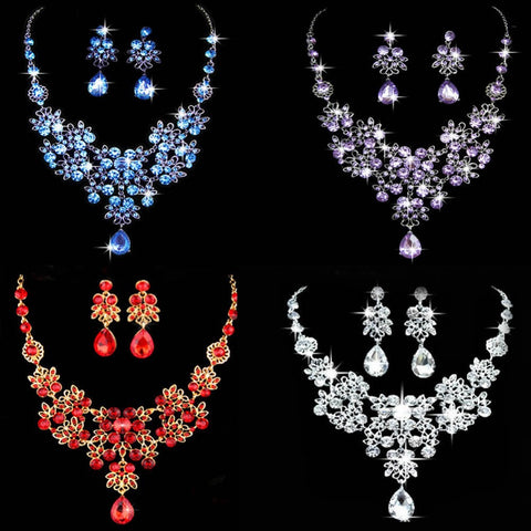Elegant Crystal pendant Jewelry Set