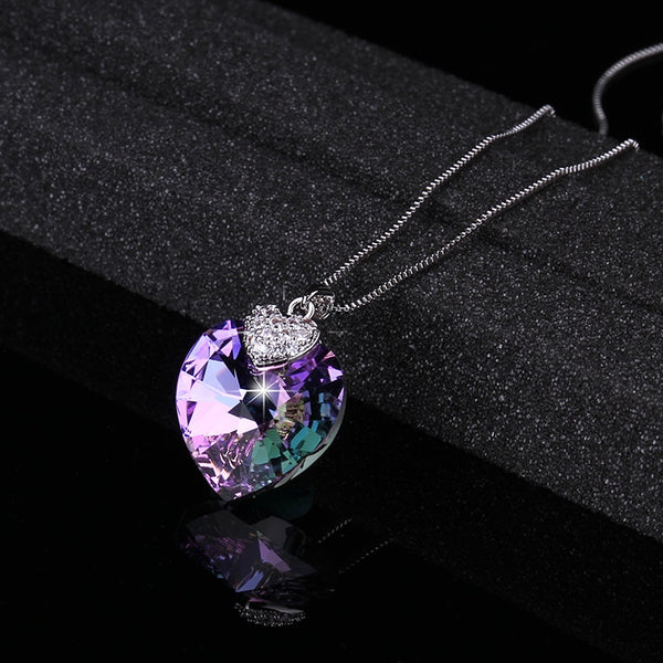 Romantic Crystal Heart Pendant