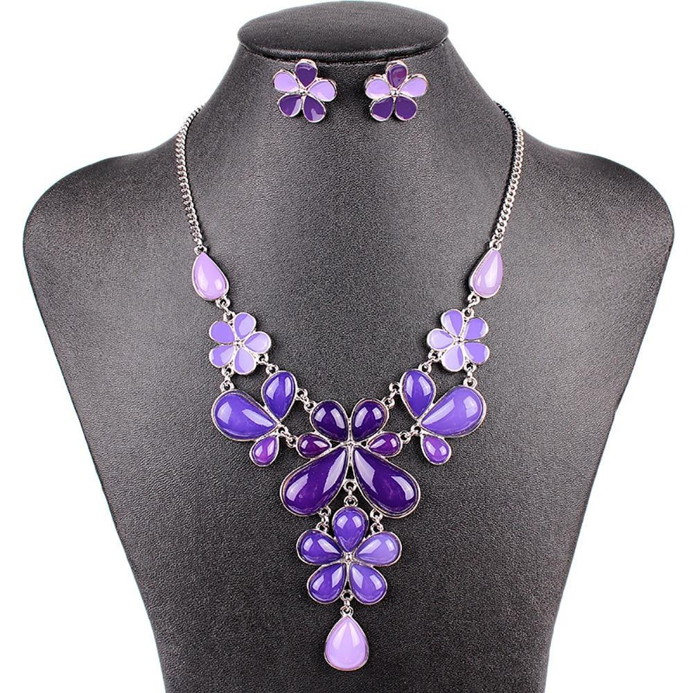 Flower Drop Jewelry Set