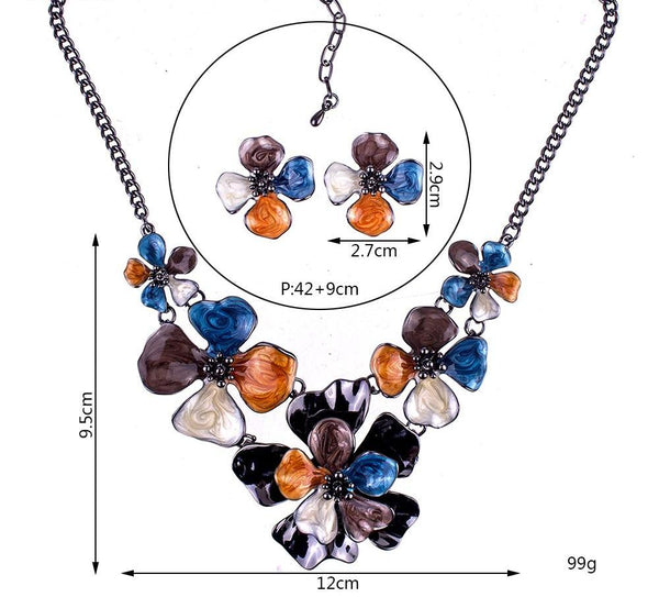 Multi-Flower Jewelry Sets