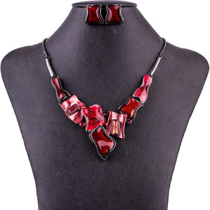 Romantic Red Jewelry Set