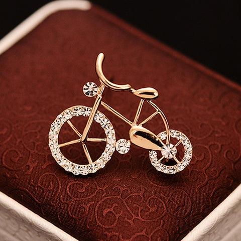 Elegant Bicycle Brooches
