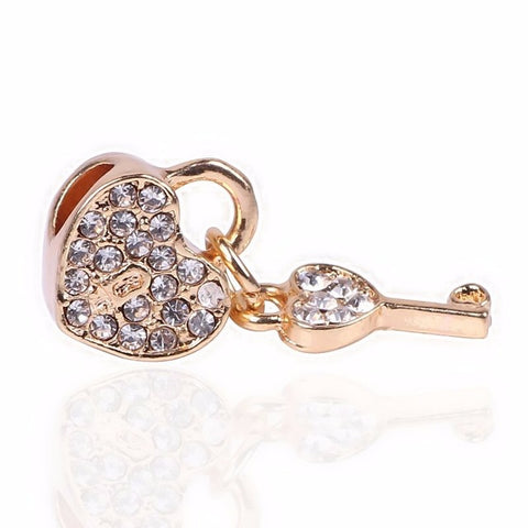 Heart Locket & Key Charm