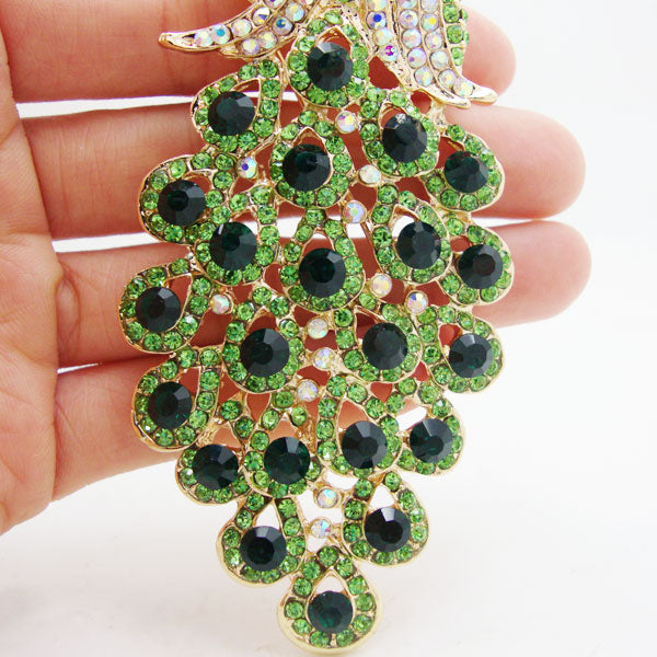 Luxury Peacock Brooch