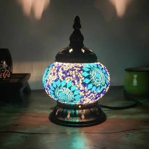 Beautiful Bohemian Mosaic Lamps