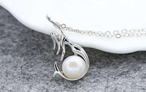 Unique Mermaid Pearl Pendant
