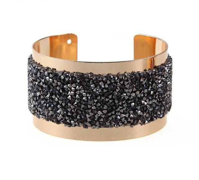 Chic Crystal Dust Cuff Bracelets