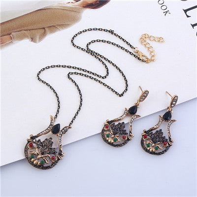 Bohemian Flower Emblem Jewelry Set