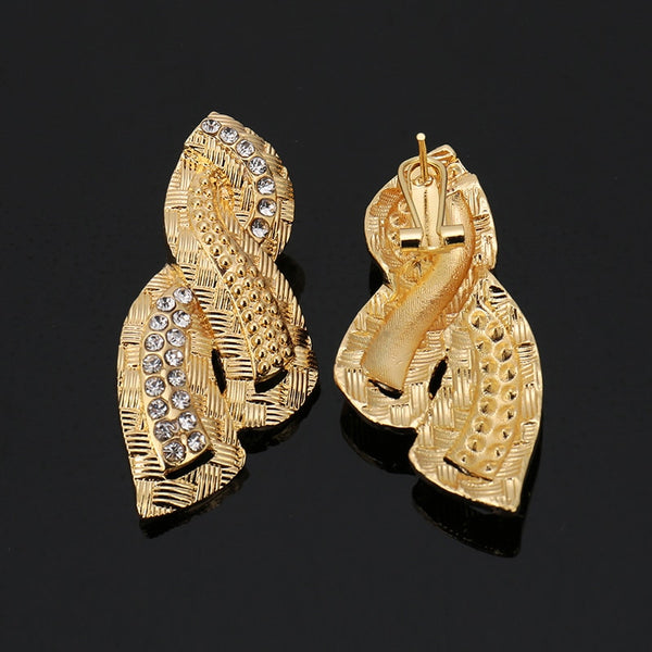 African Gold Twist Jewelry Set