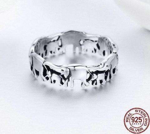 Sterling Silver Elephant Band Rings