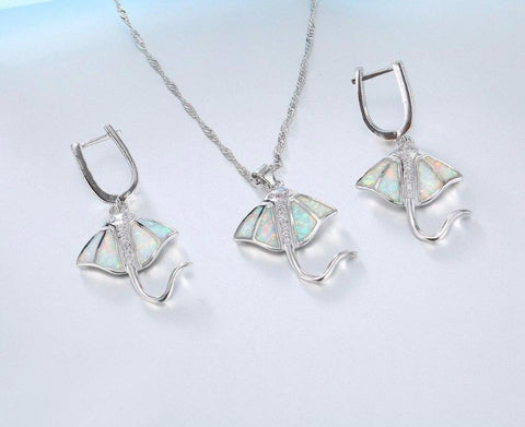 Opal Shimmer Stingray Jewelry Set