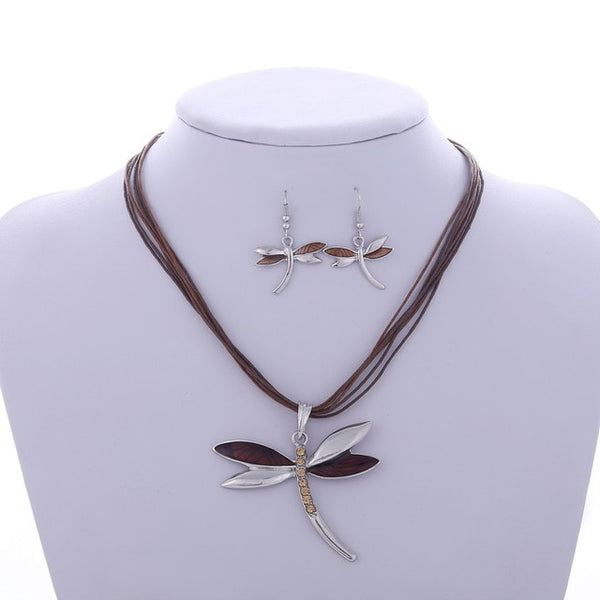 Dragonfly Drop Jewelry Set