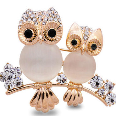 Family Opal Owl Brooch