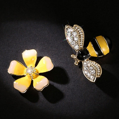 Flower & Bee Earrings