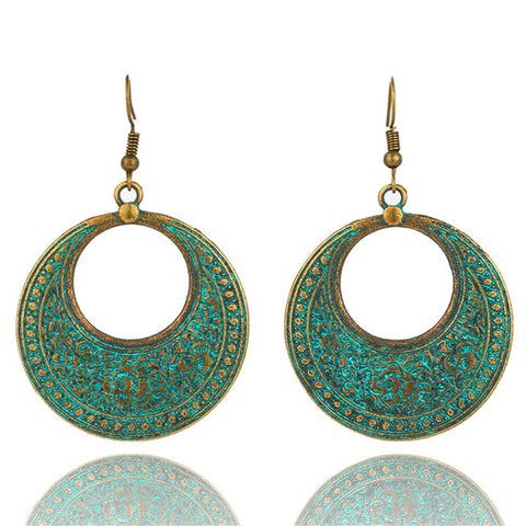 Bohemian Antique Green Earrings