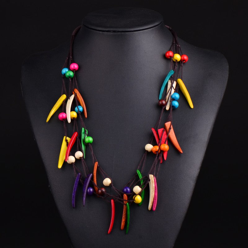Vibrant Bohemian Tribal Necklace
