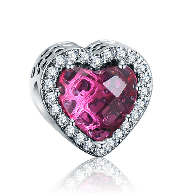 Crystal Love Pink Charm