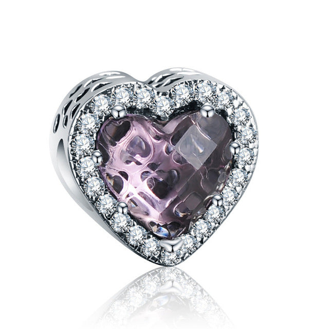 Crystal Love Purple Charm