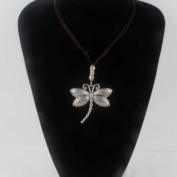 Vintage Patterned Dragonfly Necklaces