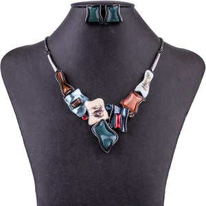 Abstract Cube Jewelry Sets