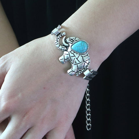 Ethnic Elephant Head Bracelet