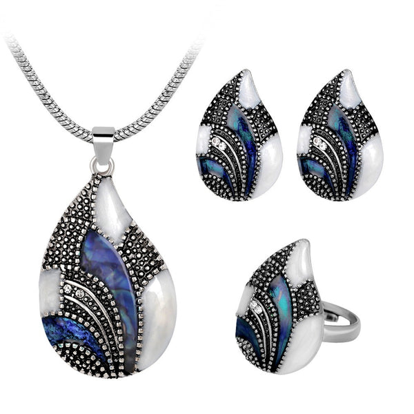 Opal Water Drop Jewelry Sets