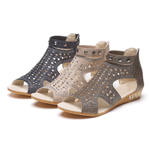 Gorgeous Rivet Gladiator Sandals