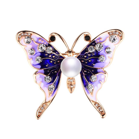Pearl Butterfly Brooches