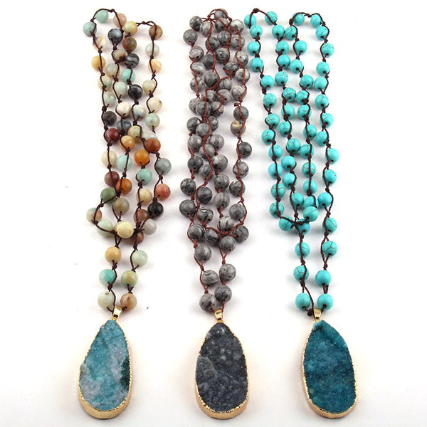 Bohemian Natural Stone Tribal Pendants