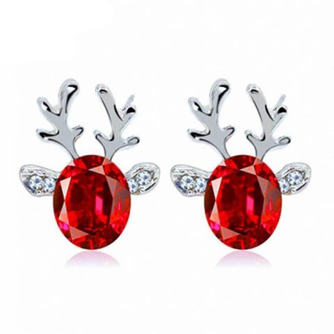Crystal Reindeer Earrings