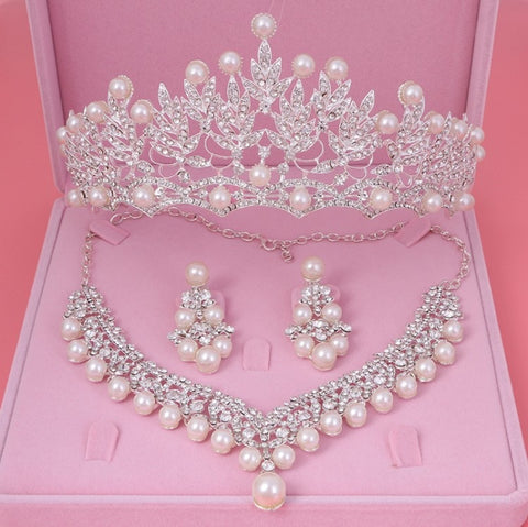 Crystal Pearl Costume Jewelry Sets