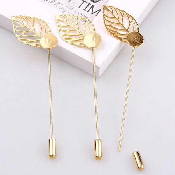 Leaf Pin Brooches