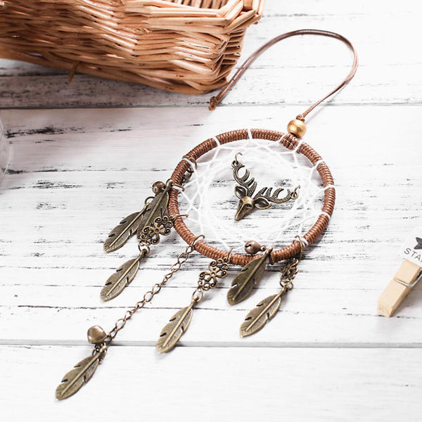 Handmade Deer Feather Dream Catcher