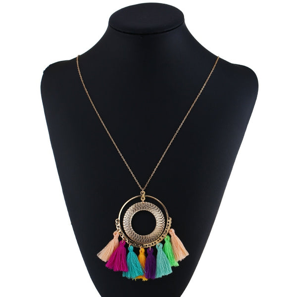 Bohemian Ethnic Tassel Necklace