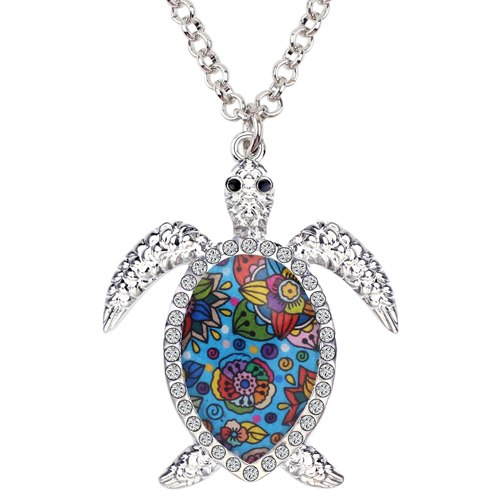 Enamel Sea Turtle Necklaces