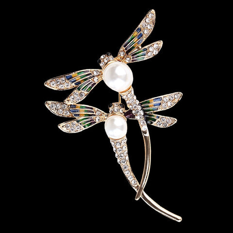 Dragonfly Couples Brooch