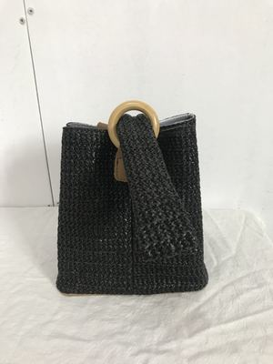 Designer Ring Buckle Woven Handbags
