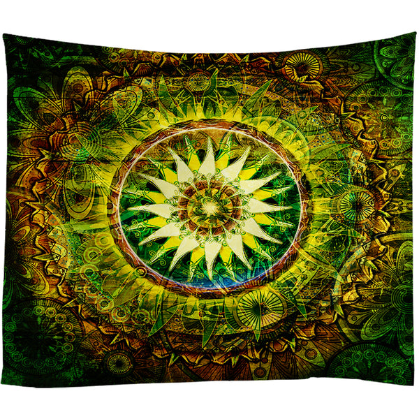 Vintage Bohemian Green Tapestry