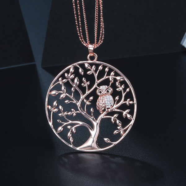 Tree of Life Owl Necklace