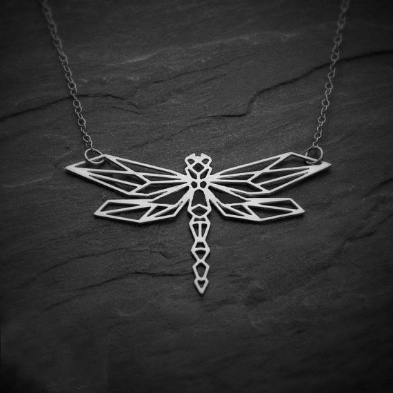 Origami Charm Dragonfly Necklace