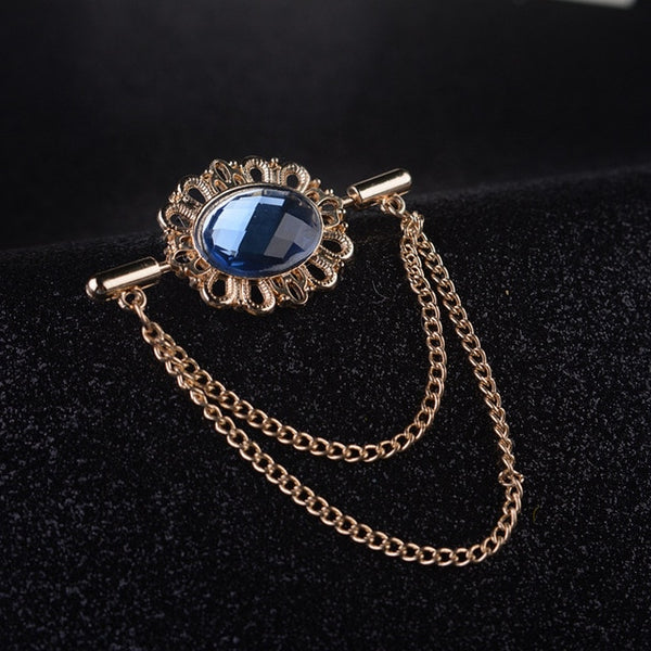 Crystal Collar Vintage Brooch