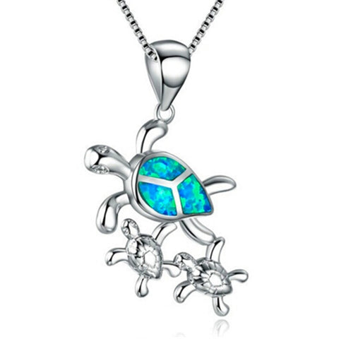 Sea Turtle Family Pendant