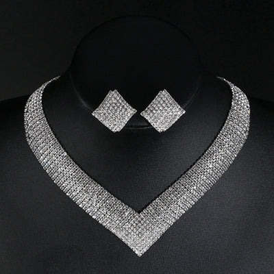 Evening Crystal Jewelry Set